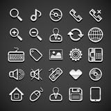 Flat metallic universal icons Royalty Free Stock Photo