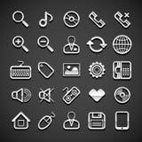 Flat metallic universal icons Royalty Free Stock Photo