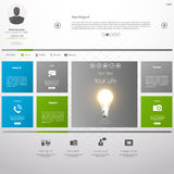 Flat Metro Web Design Template. Stock Image