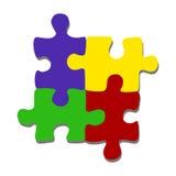 Flat minimalistic puzzle pieces vector. Flat minimalistic puzzle pieces hand drawn doodle vector illustration Stock Image