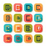 Flat mobile icons Stock Image