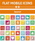 Flat Mobile Icons -  Squared Version Royalty Free Stock Photos
