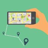 Flat mobile navigation Royalty Free Stock Images
