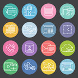 Flat mobile phone icons Stock Photos