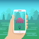 Flat mobile phone vector illustration Royalty Free Stock Image