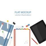 Flat mockups for website design Stock Photography
