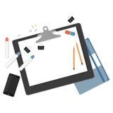 Flat mockups for website design Royalty Free Stock Image