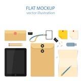 Flat mockups for website design Stock Photo