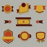 Flat modern badges, labels and ribbons set Royalty Free Stock Photo