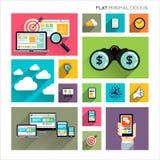Flat Modern Business royalty free illustration