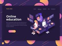 Flat Modern design of website template - Online Education stock illustration