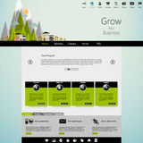 Flat Modern  Eco Website Template Stock Images