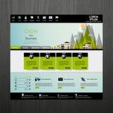 Flat Modern  Eco Website Template Stock Photo