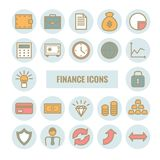 Set of finance and money vector linear icons. Flat modern finance and money  icons for web, print, mobile apps design Stock Photography