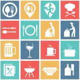 Flat modern food and cooking Royalty Free Illustration