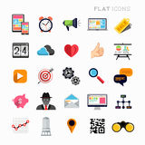 Flat Modern Icon Set Stock Photo