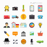 Flat Modern Icon Set Stock Photography