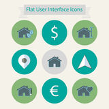 Flat modern icons for user interface 3 Royalty Free Stock Images