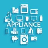 Flat modern kitchen appliances set icons concept Stock Photos