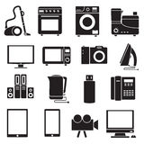 Flat modern kitchen appliances set icons concept Royalty Free Stock Photo