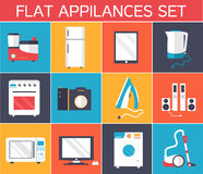 Flat modern kitchen appliances set icons concept. Vector illustration design. Template for website and mobile appliance Royalty Free Stock Photo