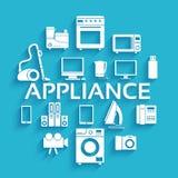 Flat modern kitchen appliances set icons concept. Royalty Free Stock Photo