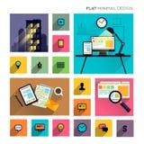 Flat Modern Lifestyle - Business Symbols royalty free illustration