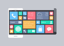 Flat modern mobile user interface concept Royalty Free Stock Photo