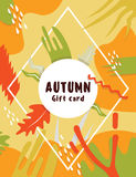 Flat modern september autumn card Royalty Free Stock Images