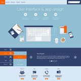 Flat modern web design elements Stock Photo