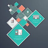 Flat modern web design elements Royalty Free Stock Image