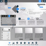 Flat Modern Website Template Royalty Free Stock Image