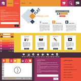 Flat Modern Website Template Royalty Free Stock Photography