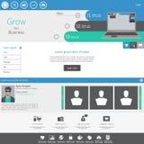 Flat Modern Website Template Stock Image