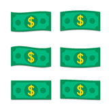 Flat money. Set of vector EPS10 flat money Icons Royalty Free Stock Images
