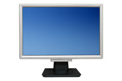 Flat monitor Royalty Free Stock Photos