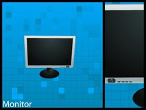Flat monitor Stock Photo