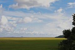 Flat Morecambe Bay landscape. Charity walk Royalty Free Stock Photography
