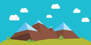 Flat mountains Stock Photos
