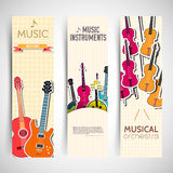 Flat music instruments background concept. Vector Royalty Free Stock Image