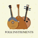 Flat music instruments background concept. Vector Royalty Free Stock Photo