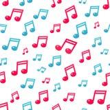 Flat music note pattern royalty free illustration