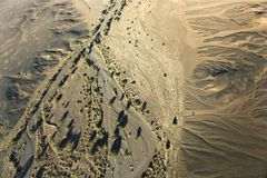 Flat of the Namib Naukluft National Park in Namibia with balloon royalty free stock images
