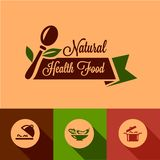 Flat natural food design elements Stock Image