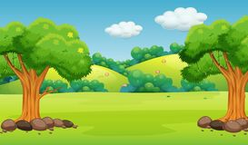 A flat nature background Vector Illustration