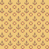 Flat navy pattern with anchors Stock Photo