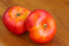 Flat Nectarines, known as Donut Nectarine Royalty Free Stock Photo