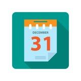 Flat new year calendar Stock Photo