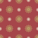 Flat new year seamless pattern with decorative snowflakes. Vector illustration Royalty Free Stock Image