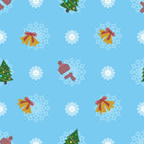 Flat new year seamless pattern. Vector illustration Royalty Free Stock Images
